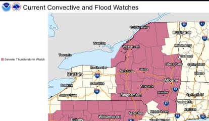 Severe Thunderstorm Watch Issued: Line Of Storms Moving West To East