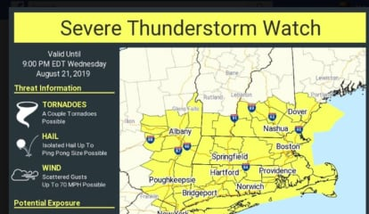 Severe Thunderstorm Watch Now In Effect: Strong Storms With Gusty Winds Sweeping Through Area