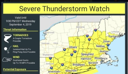 Severe Thunderstorm Watch Issued For Area; Damaging Winds, Hail, Tornadoes Possible