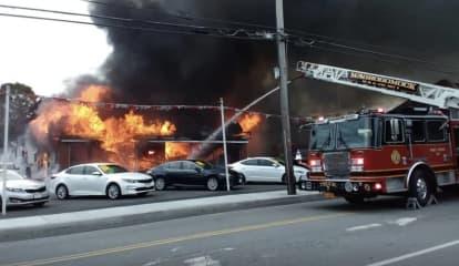 Three-Alarm Fire Destroys One Of Area's Oldest Car Dealerships