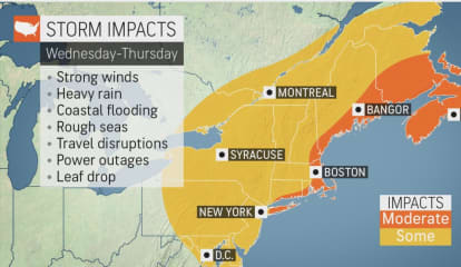 Nor'easter Will Bring Soaking Rainfall, Strong Winds That Could Cause Power Outages