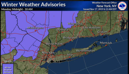 Nor'easter Nears: Winter Weather Advisory Issued For Dutchess County