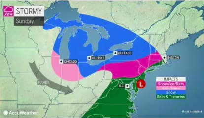 Wintry Weather Could Make For Slippery Travel At End Of Thanksgiving Weekend