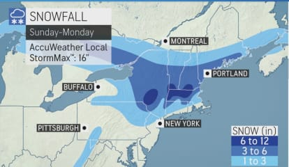 Here Are Projected Snowfall Totals For Slow-Moving Storm That Will Sweep Through Area