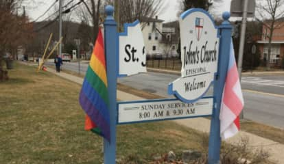 Sign Damaged At Church In Westchester