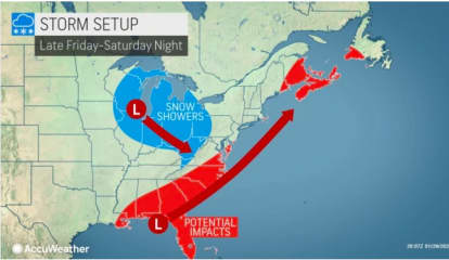 Storm Track: Here's Latest Projected Path, Timing For Weekend System