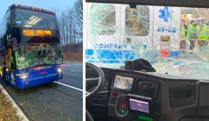 Bus, Tractor-Trailer Crash On Route 80 In Blairstown