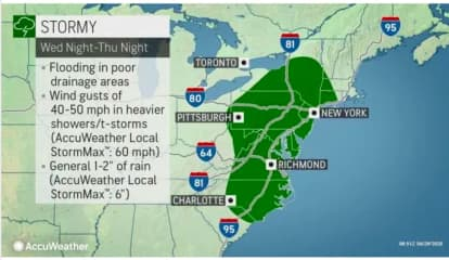 Storm System With Heavy Downpours, 50 MPH Wind Gusts Could Cause Power Outages, Flooding