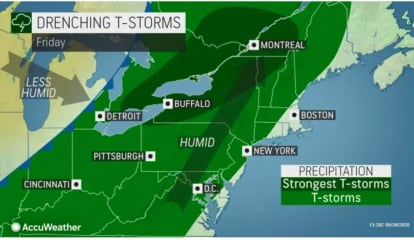 New Round Of Storms Will Lead To Drop In Temperatures