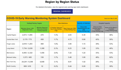 COVID-19: NY Launches Online Dashboard To Monitor How Reopened Regions Are Doing