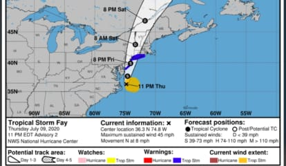 Severe Weather Alert: Here's When To Expect The Worst As Tropical Storm Fay Closes In On Area