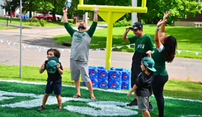 NJ Family Has Yard Transformed Into Tailgate Zone