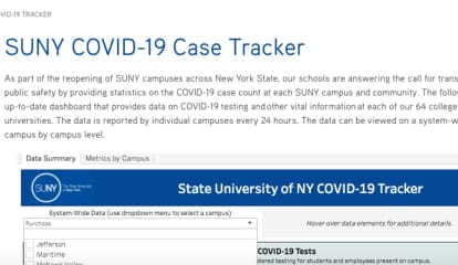 COVID-19: Daily Case Tracker Dashboard Unveiled For SUNY's 64 Universities, Colleges