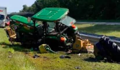 NJ Highway Tractor Struck While Mowing Grass In Central Jersey