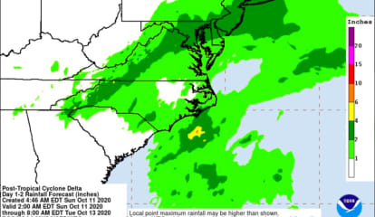 Remnants Of Delta Will Bring Heavy Rain, Gusty Winds That Could Cause Power Outages