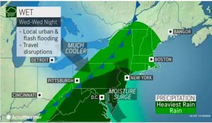 Super Soaker: Heavy Rain Will Sweep Through Region Leading To Cooler Temperatures