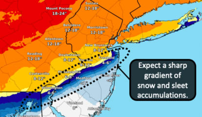Latest Snowfall Predictions, Timing Of Powerful Winter Storm Headed To NJ, PA This Afternoon