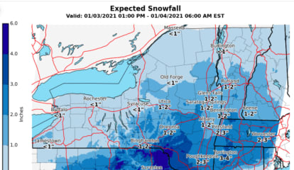 New Snowfall Projections Released For Storm That Will Sweep Through Region
