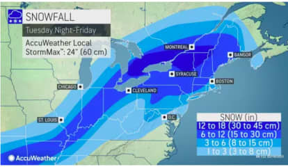 First Snowfall Projections Released For New Storm Taking Aim On Region