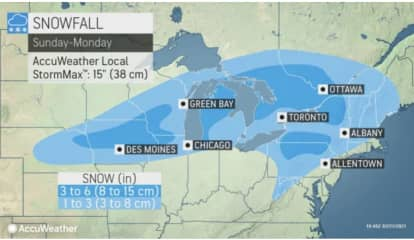 Here Are Areas Expected To See Accumulating Snowfall From New Storm System