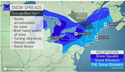 Strong Wind Gusts Could Cause Power Outages As Cold Front Will Bring Chance Of Snow Showers