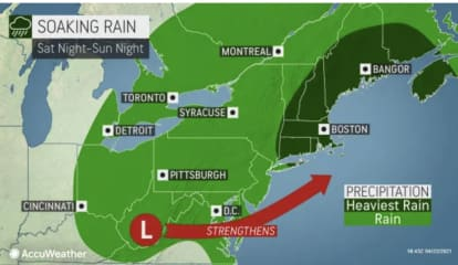 New Storm System Will Bring Heavy Rain At Times: Here's Timing For Weekend