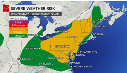 Line Of Severe Thunderstorms Moving Through Region With Damaging Wind Gusts, Tornadoes Possible