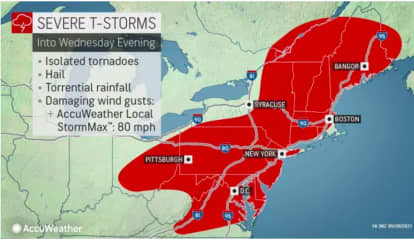 Severe Thunderstorm Watch Now In Effect With Damaging Wind Gusts, Tornadoes Possible