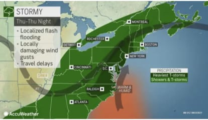 Storm System With Potential For Damaging Wind Gusts, Flooding Arrives In Region