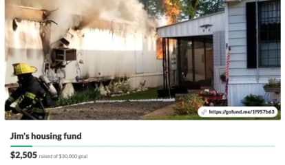 Support Surges For Elderly Morris County Man Who Lost Everything In Mobile Home Fire