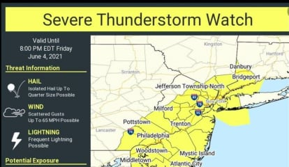 Severe Thunderstorm Watch In Effect For Westchester County