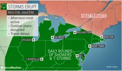 Rounds Of Storms Will Be Followed By Much-Needed Relief From Heat
