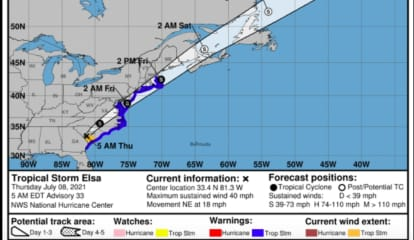 Here Comes Elsa: Tropical Storm Will Bring Heavy Rain, Gusty Winds To Region