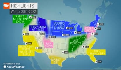Snowfall Totals, Northeast Winter Weather Predictions Released By AccuWeather