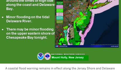 Tidal Flood Warning Issued For Jersey Shore, South Jersey: NWS