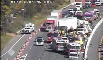 Tanker Truck Crash With Major Fuel Spill Closes Route 78