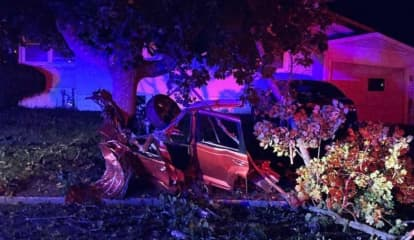 Two, One-Car Crashes In One Day On Same Street; Carjacking Involved