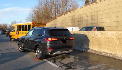Pedestrian Struck By School Bus Involved In Four-Vehicle Crash In Westchester