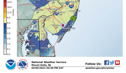 Super Bowl Sunday Storm: Up To 8 Inches Of Snow Predicted For Parts Of NJ, PA
