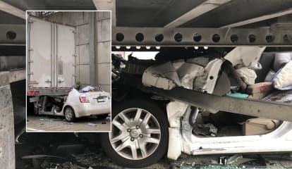 Driver Survives After Falling Asleep, Ramming Tractor-Trailer On Route 287 In Mahwah