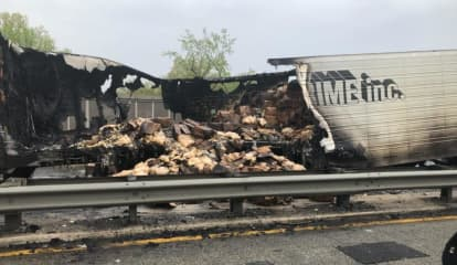 Fire Toasts Trailer Full Of Bread On Route 95 In Teaneck