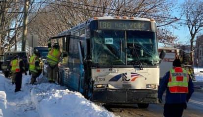 NJ Transit Bus Crashes In Teaneck