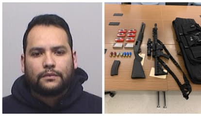 Felon Nabbed With Stolen, High-Powered Weapons In Greenwich