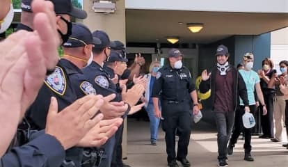Colleagues, Others Cheer Recovery Of PAPD Officer Critically Injured By Drunk Driver