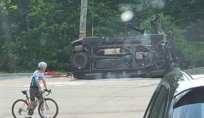 HERO: PIP Officer Saves Suspects From Burning SUV After Pursuit Ends In Crash Near NJ-NY Border