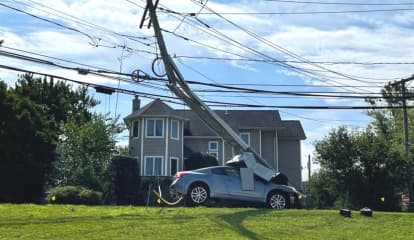 Police: DWI Driver From PA Demolishes Utility Pole Off Route 46 In PalPark