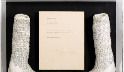 Michael Jackson's Iconic Crystal Moonwalk Socks Head To Franklin Lakes Auction Block