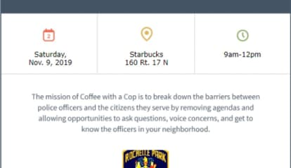 THIS WEEKEND: Come Have Coffee, Conversation With Rochelle Park Police