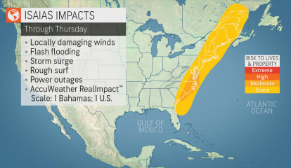 Tracking Isaias: Strong Winds That Could Cause Power Outages, Possible Tornadoes Among Threats