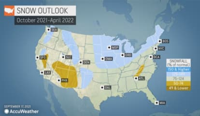 Waves Of Cold Air Could Bring Snow In November, Newly Released Winter Forecast Says